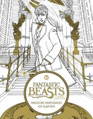 Fantastic Beasts and where to find them: magische personages en plaatsen-kleurboek Paperback  door Pieter Janssens