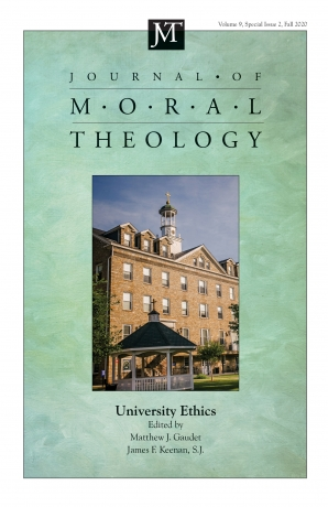 Journal of Moral Theology, Volume 9, Special Issue 2